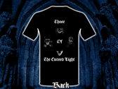 """Those Of The Cursed Light"" Design  T-shirt photo"