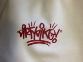 """Dirty Dike"" mini badge original hand style T-shirt. photo"