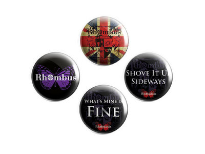 Rhombus Round Badges 4 Pack main photo
