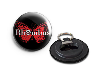 Rhombus Red Butterfly Bottle Opener Keyring main photo