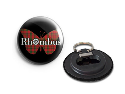 Rhombus Tartan Butterfly Bottle Opener Keyring main photo