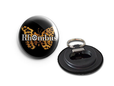 Rhombus Leopard Print Butterfly Bottle Opener Keyring main photo