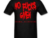 No Fucks Given T-shirt [white/red/green/purple] photo