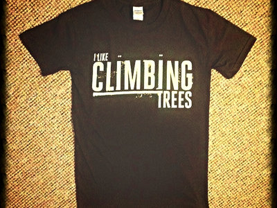 BROWN Vintage 'I Like Climbing Trees' Adult T-Shirt main photo