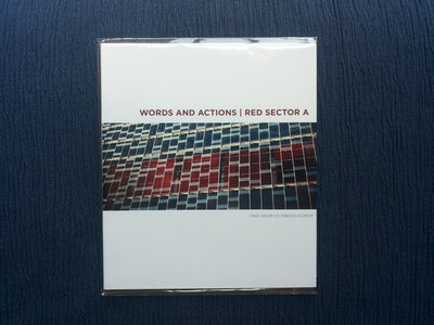 Words And Actions | Red Sector A (CD split) (Final Muzik, FMSSSC0414) CD-Singles Club 04 main photo