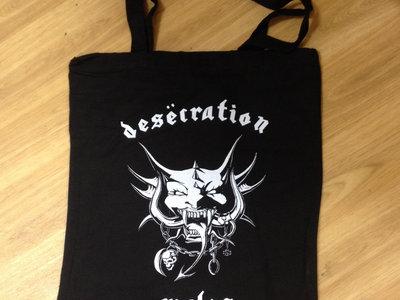 "Desecration ""Motorhead design"" Tote Bag  (12"" record bag?) main photo"