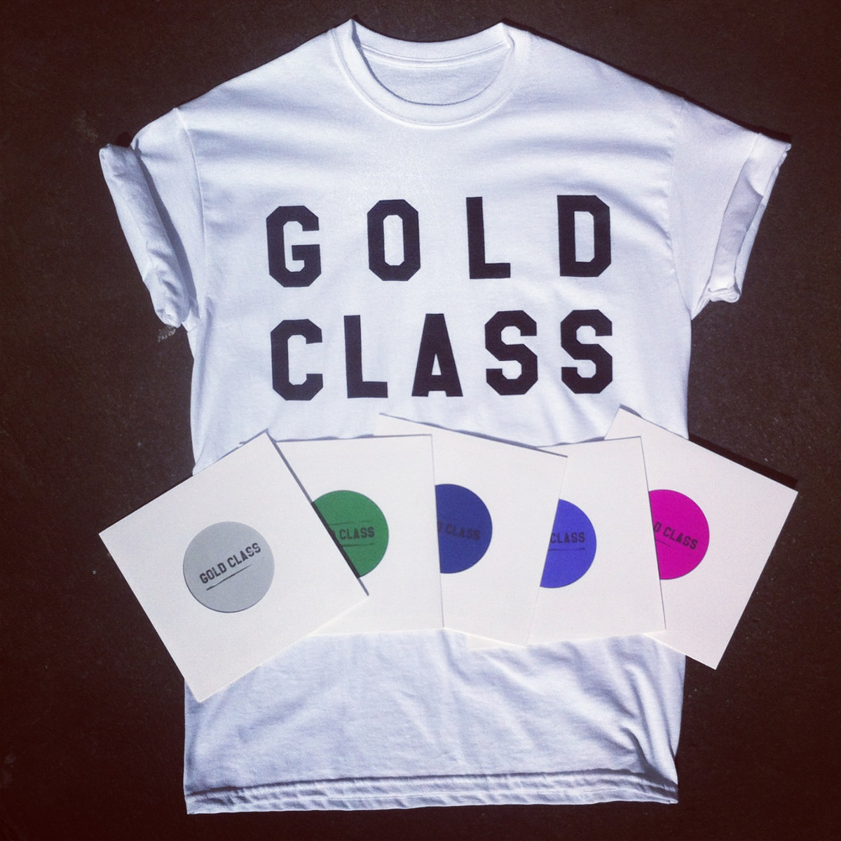 T shirt design qld -  Gold Class Letter Design T Shirt Main Photo