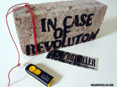 IN CASE OF REVOLUTION USB release attached to a brick main photo