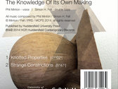 The Knowledge Of Its Own Making - CD album (HCR08CD) photo