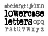 lowercase letters t-shirt photo