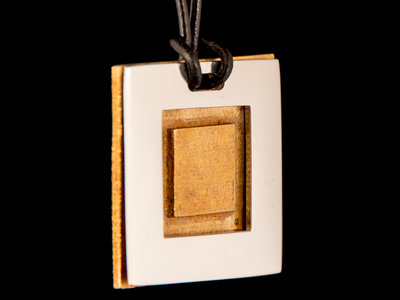 Two-Piece Square Pendant - Silver and Bronze main photo