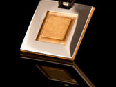 Two-Piece Square Pendant - Silver and Bronze photo