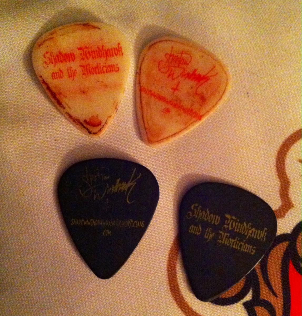 Shadow Windhawks Bloody Guitar Picks And Strings Worn Used In Halloween 63