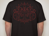 """""""Red Outline"""" Logo and Logo Bug - Men's Glidan T-Shirt with FREE SONG DOWNLOAD photo"""