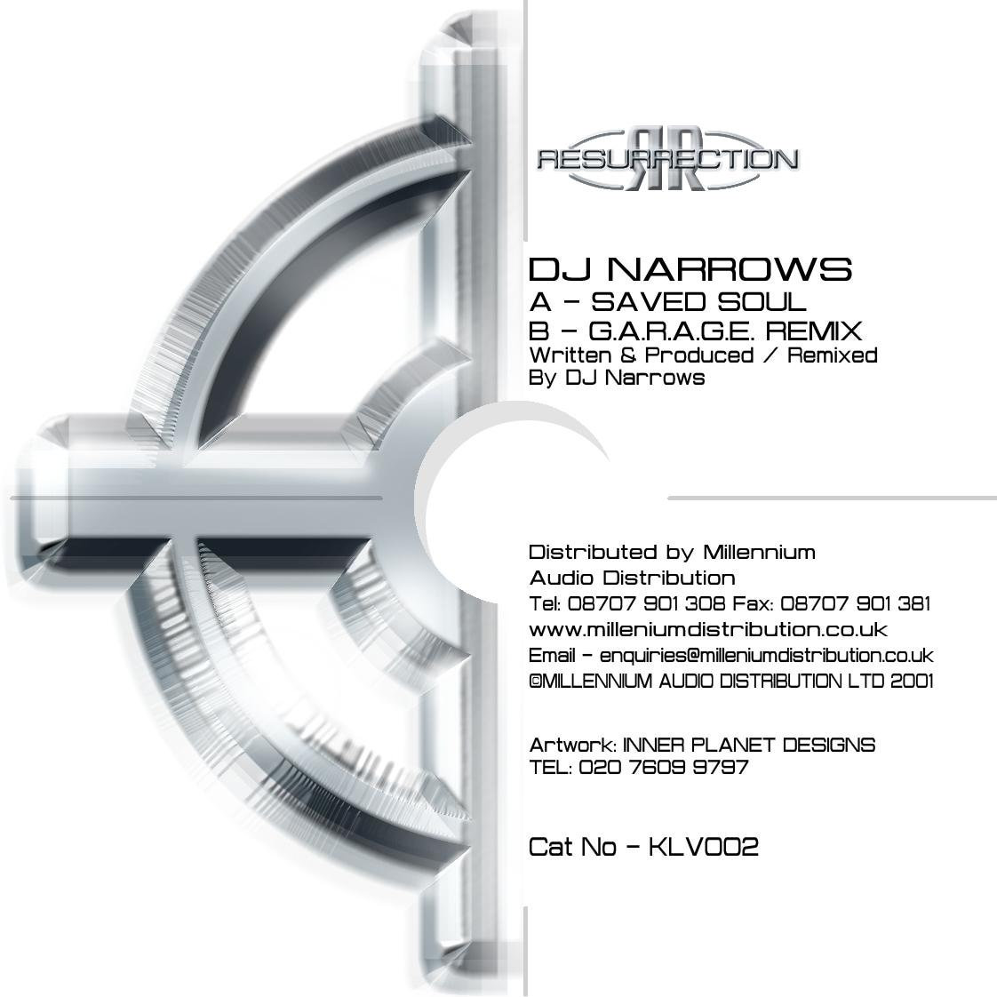 DJ NARROWS - Saved Soul / G A R A G E  Remix - Limited