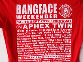 BANGFACE Weekender 2012 Line-Up Womens T-Shirt (Version 1) Various Colours photo