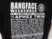 BANGFACE Weekender 2012 Line-Up Womens T-Shirt (Version 2) Various Colours photo