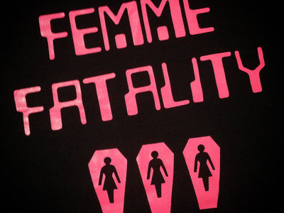 Classic Coffin T-Shirt (Pink on Black) main photo