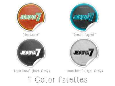 "Large ""Jenova 7"" Logo Stickers main photo"