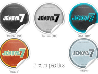 "Small ""Jenova 7"" Logo Stickers main photo"