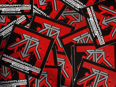 "Five 4.25x4.25 ""Rote"" Radiograffiti Vinyl Stickers main photo"