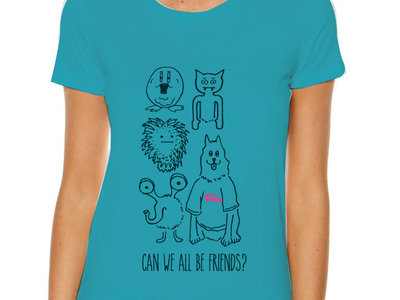 """Can We All Be Friends"" Tee (Blue) main photo"