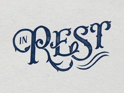 """Limited Edition """"In Rest"""" Letterpress Print main photo"""