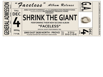 "Ticket to ""Faceless"" Album Release Show - December 4th main photo"