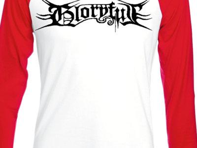 "Gloryful Baseball Longsleeve Shirt ""Logo"" (red sleeves) main photo"
