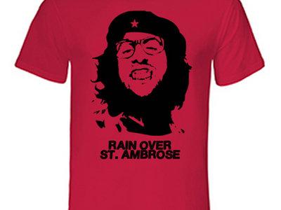 Rain Over St. Ambrose - Seaman Delany Che T-Shirt - RED main photo