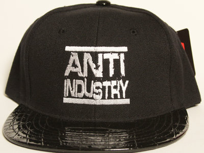 Black Leather Brim Run AntiIndustry Snapback main photo