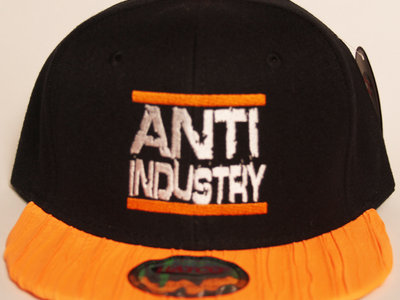 Black/Orange Run AntiIndustry Snapback main photo