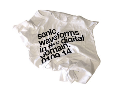 """Sonic Waveforms"" White T-Shirt main photo"