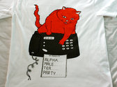 """Angry Cat Hates Fax Machine"" T-Shirt photo"