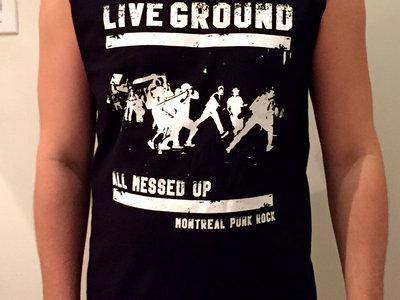 All Messed Up - Black Sleeveless Shirt main photo