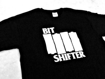 Bit Shifter t-shirt • Black Flag homage main photo
