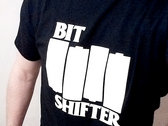 Bit Shifter t-shirt • Black Flag homage photo