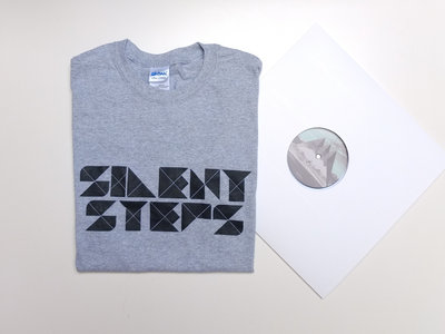 "Special Combo : Silent Steps Shirt (Black or Grey) + SILENT11 (12"") + Stickers main photo"