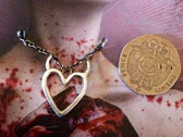 Robyn Chaos Jewellery**Tainted Heart** Silver Pendant photo