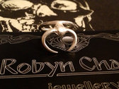 Robyn Chaos **Scarab** Sterling Silver Ring photo