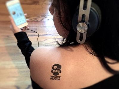 Audible Doctor Logo Temporary Tattoo main photo