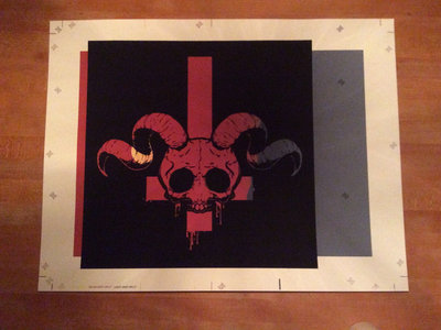 Hand Silk Screened Rebirth Print.  Super Super Super limited run.  Yes, they're Red! Art by Ed McMillen main photo
