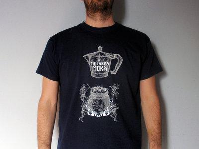 "T-Shirt ""Ammazzacaffè"" uomo Silver + White su blu notte main photo"