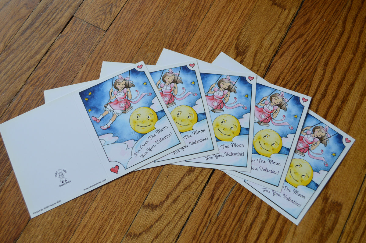 5 Pack Signed Valentines Download Cards and Flowers Gift Set – Thomas Valentine Cards