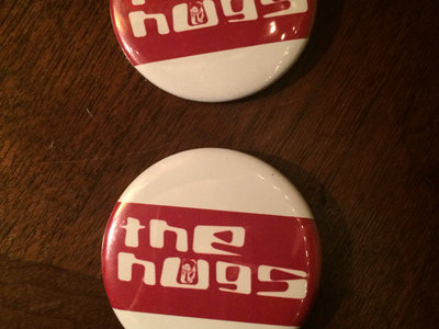 "The Hugs ""Red Stripe"" Logo Button Pin main photo"