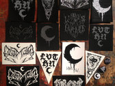 LVTHN & Lurker of Chalice Embroidered Patch & Sticker Burlap Bag Collection photo