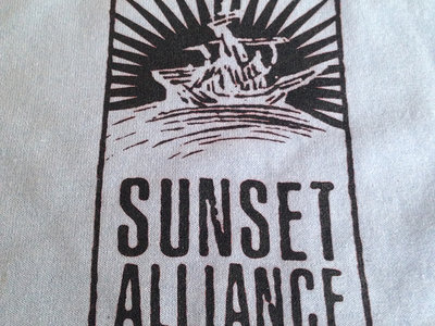 "Sunset Alliance ""Ship/Explore"" shirt main photo"