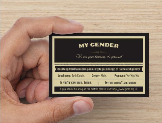 GENDER S NOT BUSINESS IT S PERSONAL Business Cards 10 Pack Seth