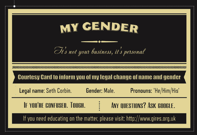 Genders not business its personal business cards 10 pack genders not business its personal business cards 10 pack main photo colourmoves