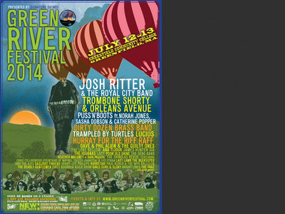 Green River Festival 2014 - Official Festival Poster w/ Artists main photo